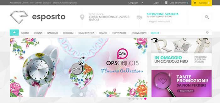 Nuova disegni attraenti preordinare Realizzazione sito e-commerce per gioiellerie shop online ...